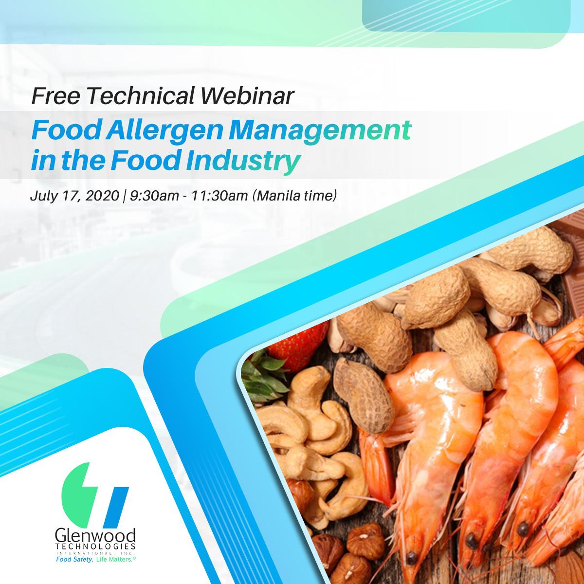 Webinar: Food Allergen Management in the Food Industry