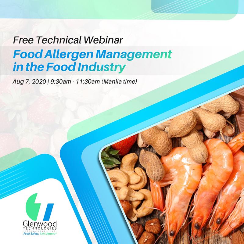 Free Webinar: Food Allergen Management in the Food Industry