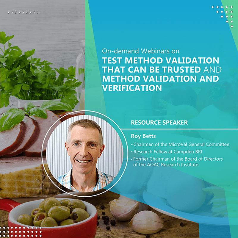 On-demand Webinars on Test Method Validation that  can be Trusted and Method Validation and Verification